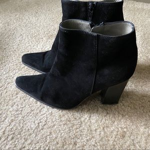 Chunky Prada Suede Ankle Booties